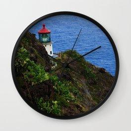 Makapuu lighthouse trail Wall Clock