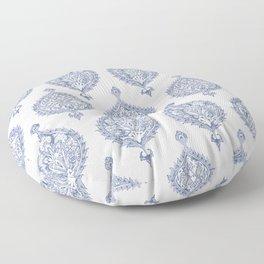 Endana Medallion Print in Periwinkle Floor Pillow