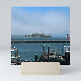Alcatraz On A Foggy Morning Mini Art Print
