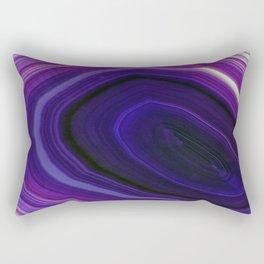 Swirled Purple Geode Rectangular Pillow