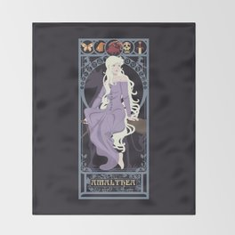 Amalthea Nouveau - The Last Unicorn Throw Blanket