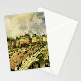 Camille Pissarro - The Pont-Neuf, Wreck of Bonne Mre Stationery Cards