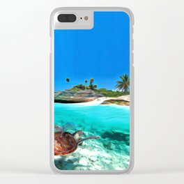 Antigua & Barbuda Nature Art Clear iPhone Case