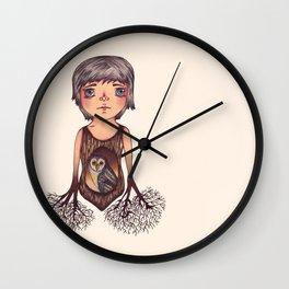 MASKED OWL Wall Clock
