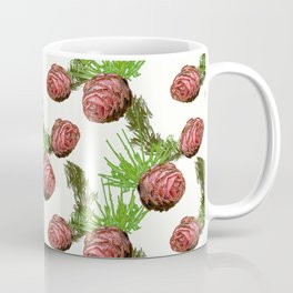 Fir cones and branches on white. Coffee Mug