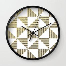 GOLD GEOMETRIC PILLOW Wall Clock