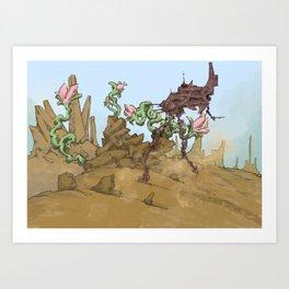 robo desert Art Print