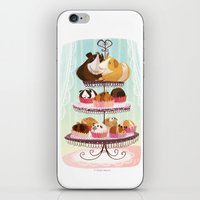 blankets iPhone & iPod Skins featuring Petit Pigs sans Blankets by Steph Laberis