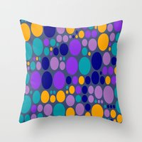dots Throw Pillows featuring Dots by Aloke Design