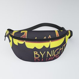 Istanbul By Night Skyline Cityscape Typography Fanny Pack