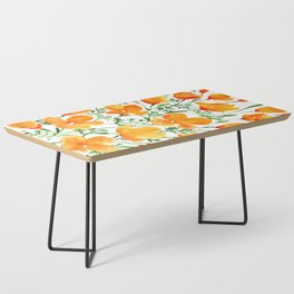 Watercolor California poppies Coffee Table