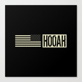 Hooah (Black Flag) Canvas Print