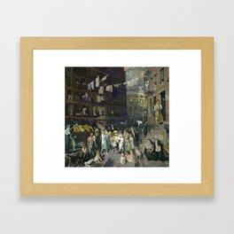 George Bellows - Cliff Dwellers, 1913 Framed Art Print