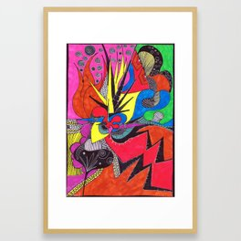 more cosmic happenstance Framed Art Print