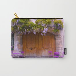 Paris Wisteria and Charming Door Carry-All Pouch