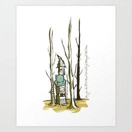 Tumbling through the trees. Art Print