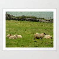 ruben ireland Art Prints featuring Ireland by Daniel Clifford
