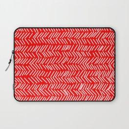 Scarlet Herringbone Lines Laptop Sleeve