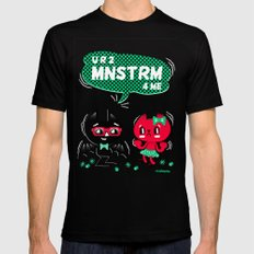 U R 2 MNSTRM 4 ME SMALL Black Mens Fitted Tee