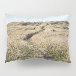 Oregon Dune Grass Adventure - Nature Photography Pillow Sham