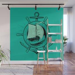 Anchor Wheel & Wooden Sailer Wall Mural