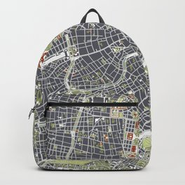 Vienna city map engraving Backpack