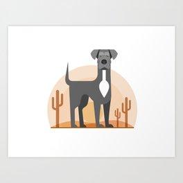Odin of the Desert Art Print