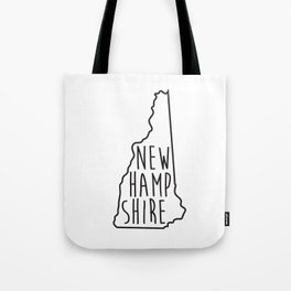 New Hampshire Type Map  Tote Bag
