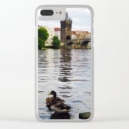 Ducks and Charles Bridge Clear iPhone Case
