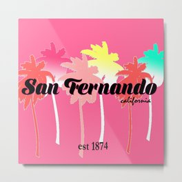 San Fernando Palm Trees Metal Print