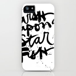 Wish Upon A Starfish iPhone Case