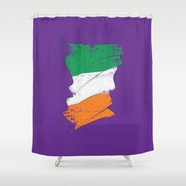 Distressed Irish Flag Ireland St Patricks Purple Shower Curtain