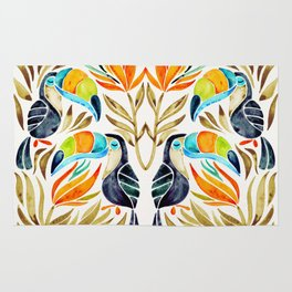 Tropical Toucans – Sepia Palette Rug