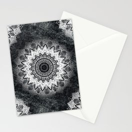 MONOCHROME BOHOCHIC MANDALA Stationery Cards