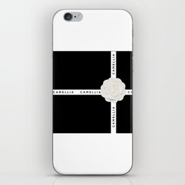 camellia with ribbon iPhone Skin