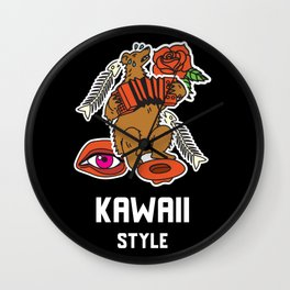 Great Kawaii Kawaii Style Japanese Japan Arts Style Cool and Cute Wall Clock