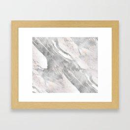 Castello silver marble Framed Art Print