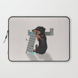 Attack of the Enormous Dachshund!!! Laptop Sleeve