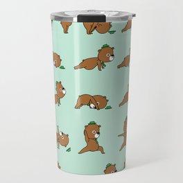 Yoga Bear Travel Mug