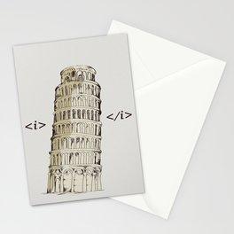 italic Stationery Cards