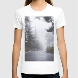 Dream forest. Square. Into the foggy woods T-shirt