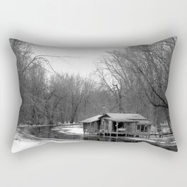 Cabin on the River Rectangular Pillow