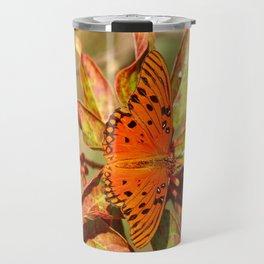 Butterfly In The Glades - Gulf Fritillary Travel Mug