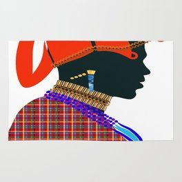 massai warrior digital design zolliophone shop Rug