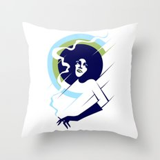 Retropolitan (cool) Throw Pillow