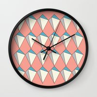 diamonds Wall Clocks featuring diamonds by Evan Hinze