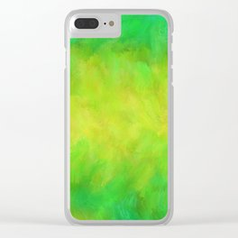 Happy Spring Meadow Clear iPhone Case