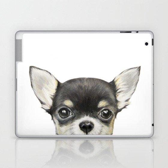 Chihuahua mix color Dog illustration original painting print Laptop & iPad Skin