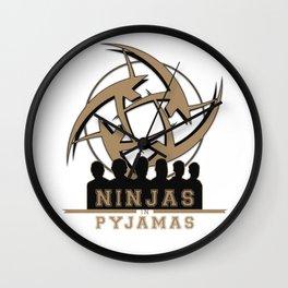 Ninjas in pyjamas! Counter strike team Wall Clock