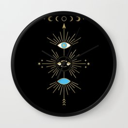 Evil Eye Totem Wall Clock